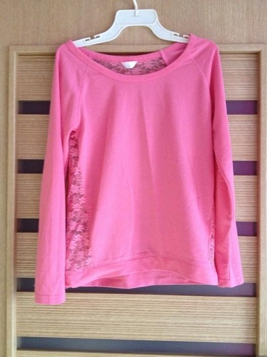 Różowa bluza z koronką...