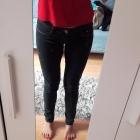 Jeansy ciemne niski stan bardzo wygodne