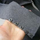 Sweterek szary kopertowy taliowany 36