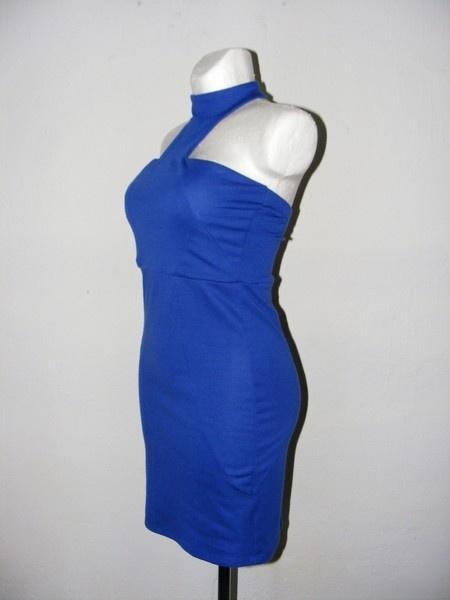 Asos Sukienka elastyczna kobaltowa chocker 38 40