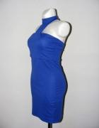 Asos Sukienka elastyczna kobaltowa chocker 38 40...