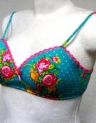 Stanik bralet H&M floral boho style...