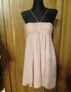 Nowa sukienka piaskowy beżowy kolor weselebal...