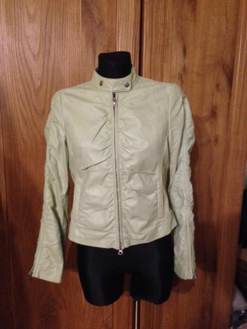 Odzież wierzchnia Skórzana kurtka ramoneska Esprite w cudnym zielony