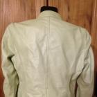 Skórzana kurtka ramoneska Esprite w cudnym zielony