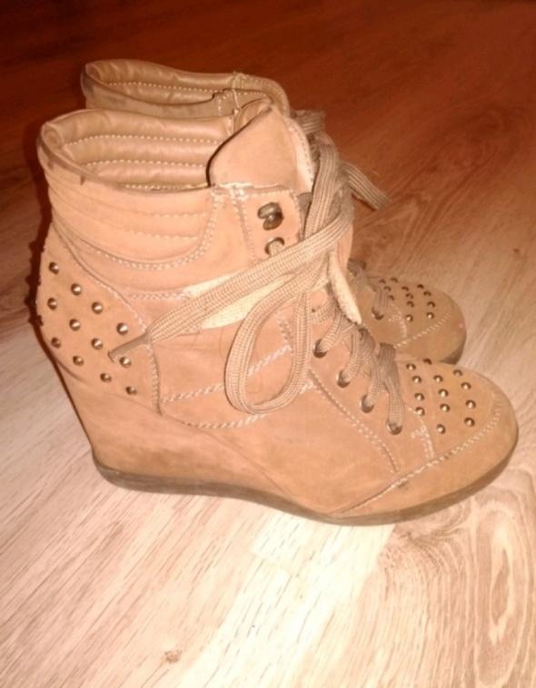 Brązowe Sneakersy