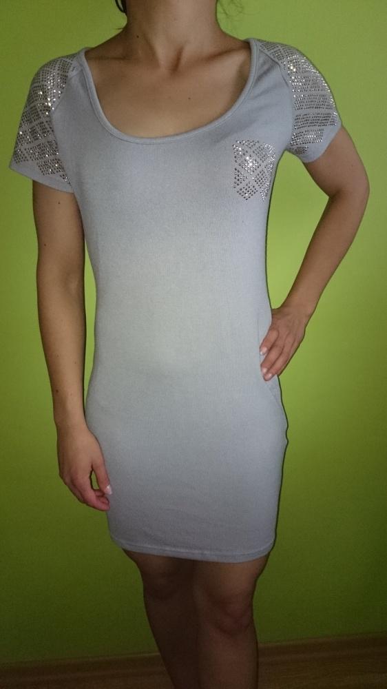 Melanż sukienka sweterkowa...