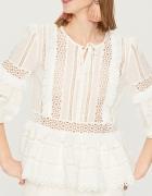 Reserved Koronkowa bluzka Biała...
