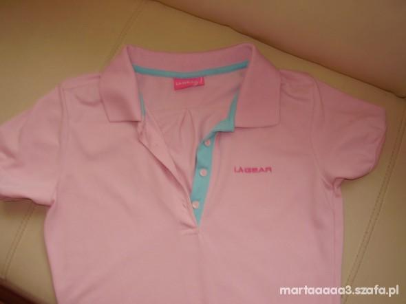 Różowa koszulka POLO