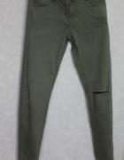 Spodnie fit slim jeans khaki House S...