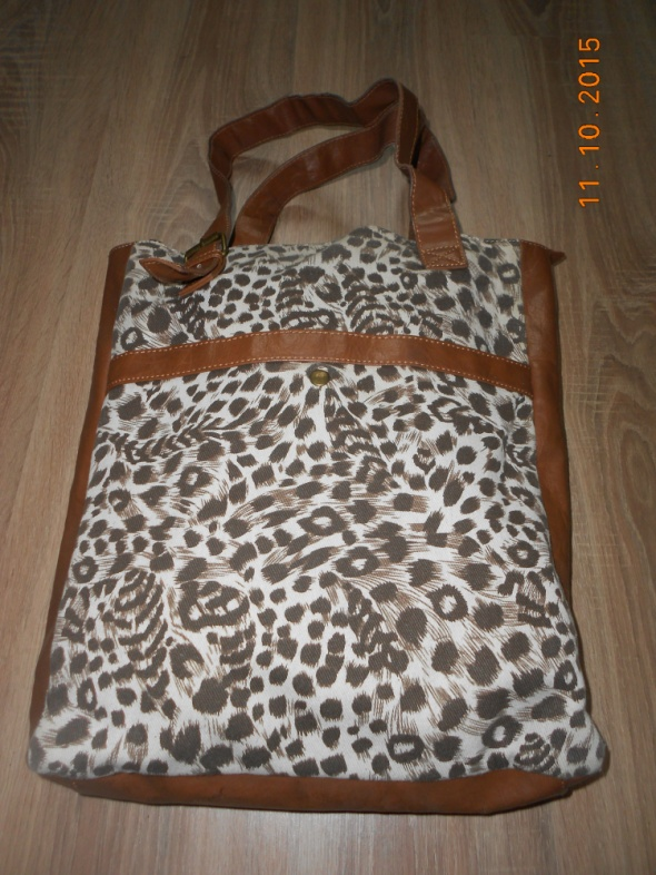 torebka na ramię w panterkę