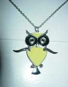 Łańcuszek z sową naszyjnik Reserved Sowa owl...