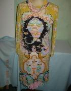 Modna sukienka w azteckie wzory aztec kolorowa...