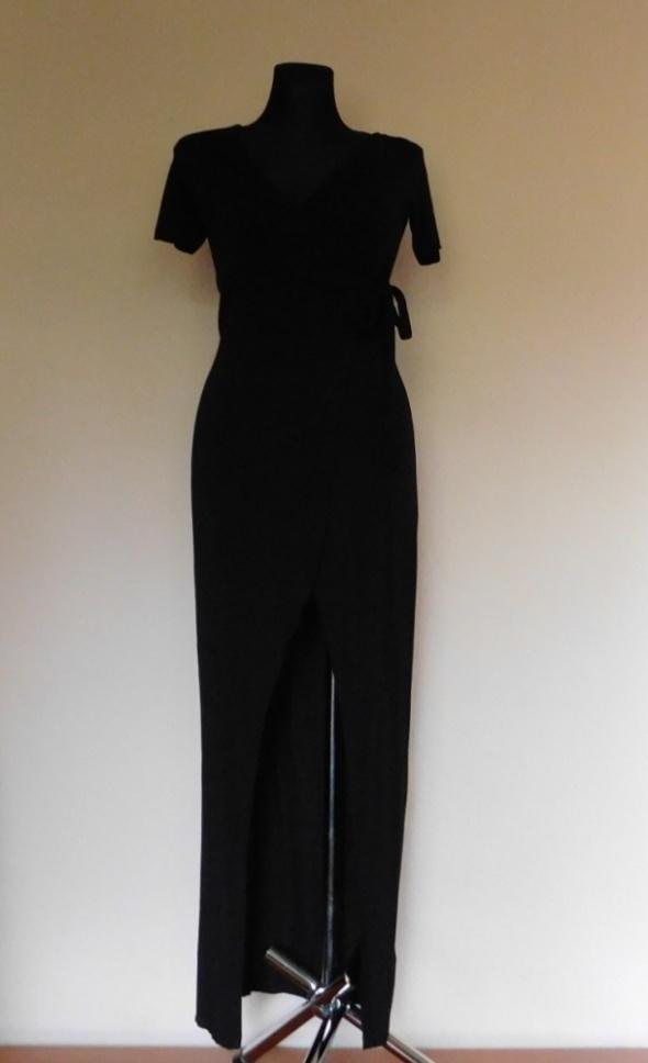 Atmosphere długa sexy sukienka czarna 38...