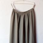 Zwiewna spódnica maxi na gumce kolor khaki r one size