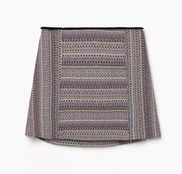 Spódnice Żakardowa spódnica w wzory z bawełny Mango S
