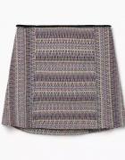 Żakardowa spódnica w wzory z bawełny Mango S...