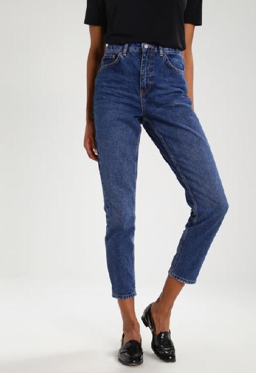 Jeansowe spodnie vintage River Island denim bawełniane...