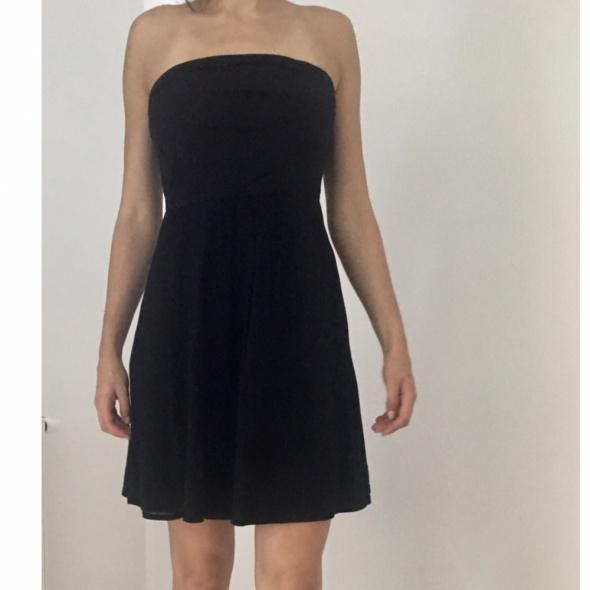 Czarna sukienka Camaieu bez ramiączek 40 L w Suknie i