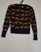 Sweterek H&M liski sarny xs