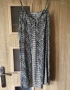 Sukienka XS Bershka styl boho plażowa luźna zwiewna