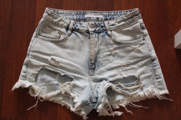 Spodenki Zara spodenki wysoki stan jeans 36