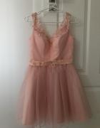 Sukienka pudrowy róż Magnetic XS