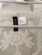 Bluzka biała koronkowa H&M