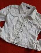 Biała kurteczka katanka jeans Suzanne L...