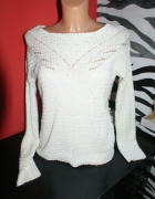 Biały sweterek Bershka S 36