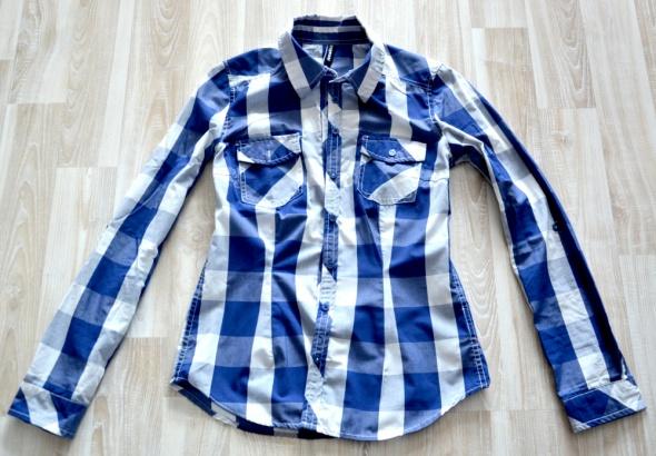 Koszula w kratę taliowana S...