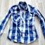 Koszula w kratę taliowana S