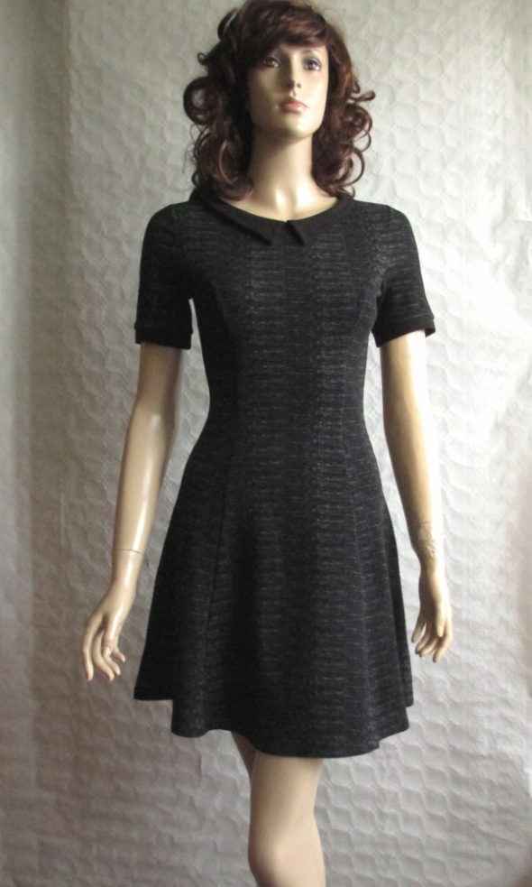 H&M sukienka szara dzianina pensjonarka 36