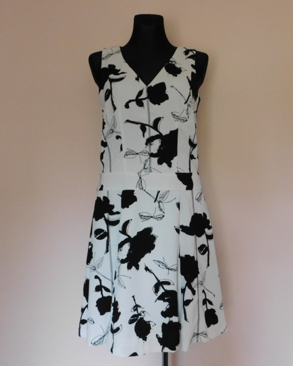 Next sukienka midi czarna biała 38 40...