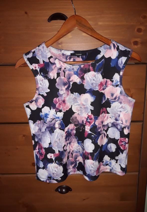Bluzka bez rękawów w kwiaty floral George 38...