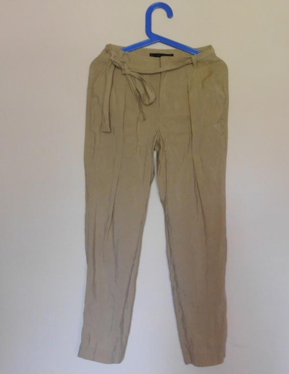 Zara spodnie musztardowe letnie 34 36...