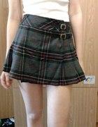 plisowana spódnica w szkocką krate rockowa s m xs...