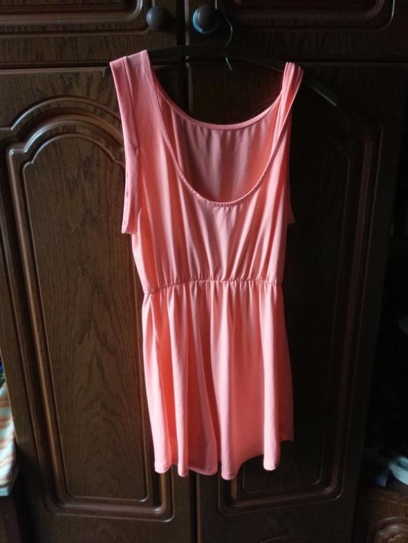 neonowa sukienka z dekoltem Xl