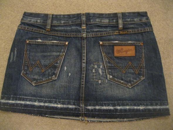 spódnica jeans WRANGLER M przecierana...