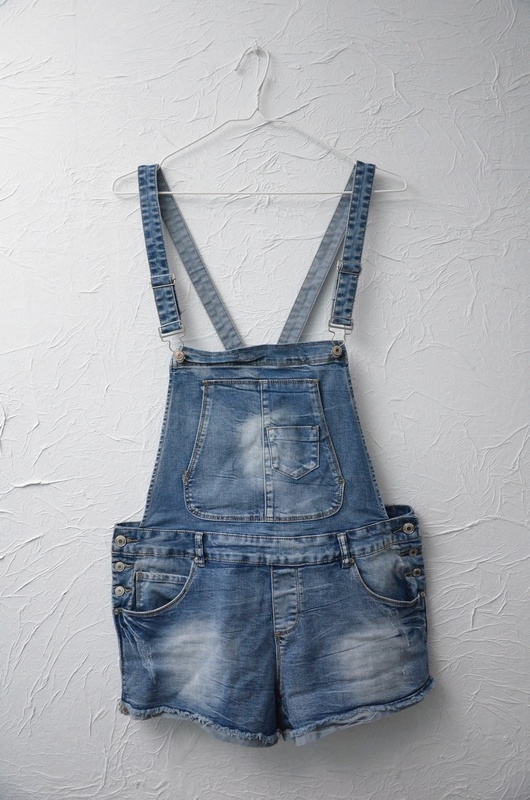 New Yorker szorty spodenki na szelkach ogrodniczki jeansowe dżinsowe XL