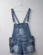 New Yorker szorty spodenki na szelkach ogrodniczki jeansowe dżi...