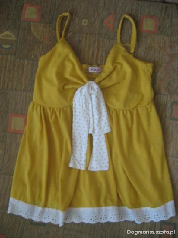 żółta bluzka na ramiączkach z Orsaya