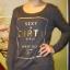 modna bluza ze złotym nadrukiem
