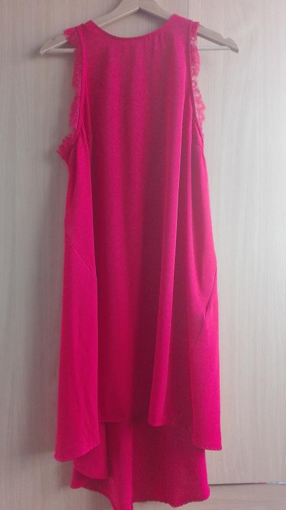 Asymetryczna czerwona sukienka rozm L