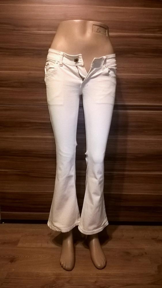 Białe Dżinsowe Spodnie