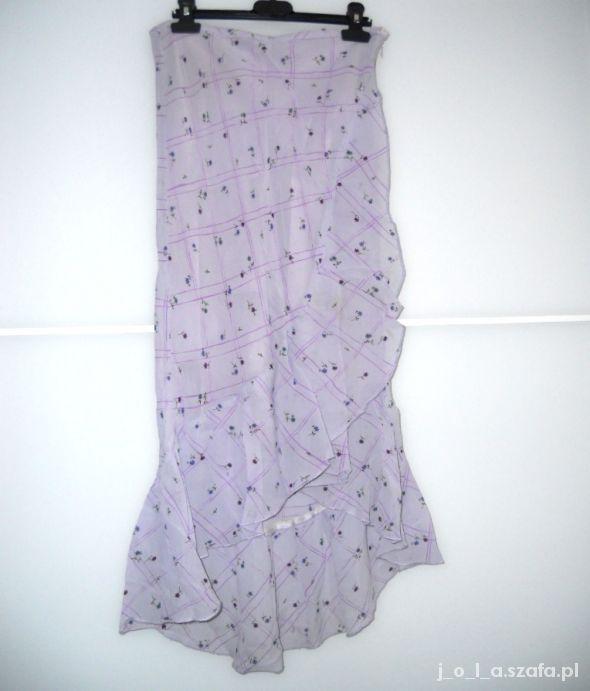 Lekka asymetryczna spódnica floral...