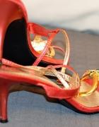 Czerwone sexy sandały 40