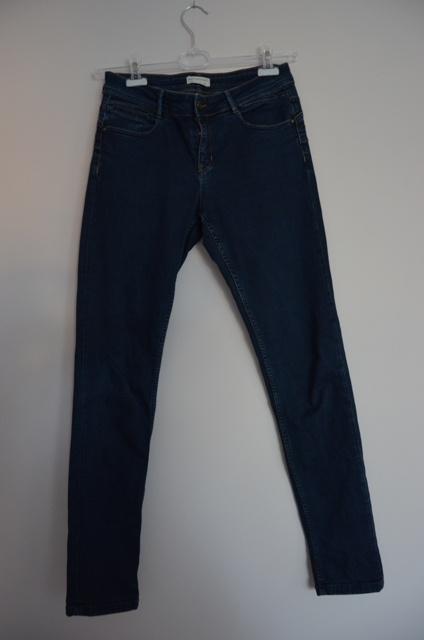 Promod spodnie damskie jeansy granatowe rurki 40 L...