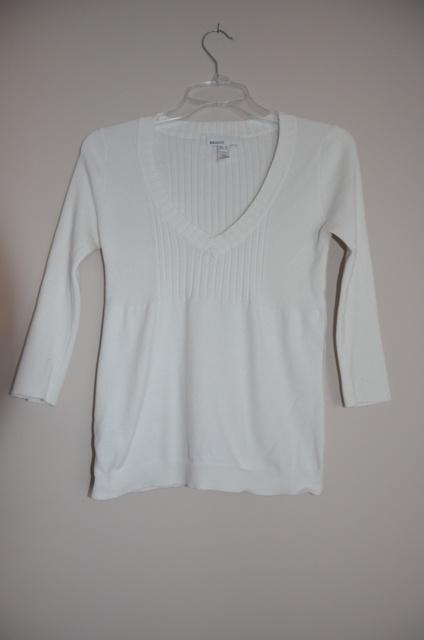 Mango sweter damski biały karo bluzka 38M musthave...