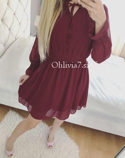 Bordowa sukienka bordo jesień śliczna 36 S